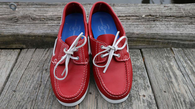Looking to stand out on the docks? Dooney & Bourke has reimagined the classic boat shoe in some pretty wild colors.