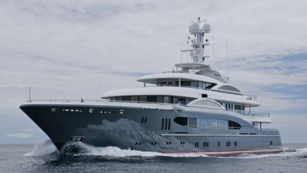 The yacht boasts a huge beam of 42 feet.