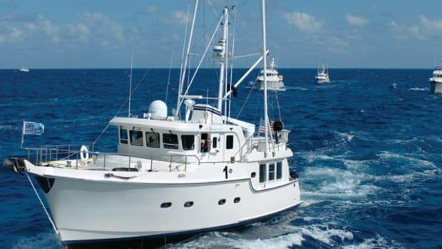 The Captains Baker's beloved Atlantic-crosser, Bluewater.