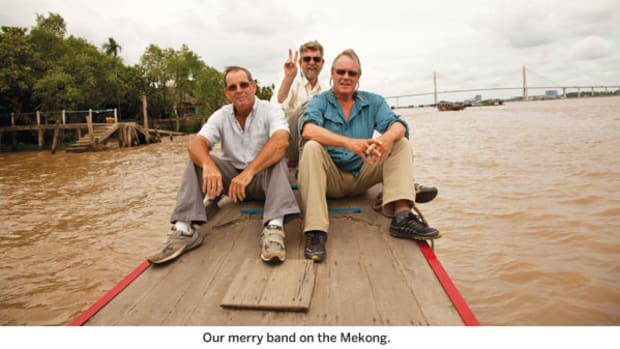 Our merry band on the Mekong.