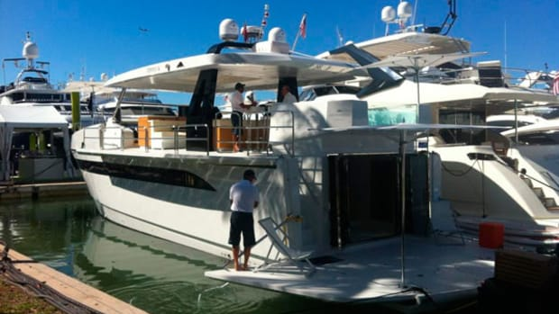 Astondoa Top Deck 63 at the Yacht & Brokerage show in Miami 2014