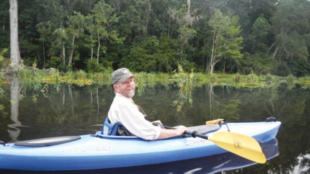 Capt. Bill Pike kayaking