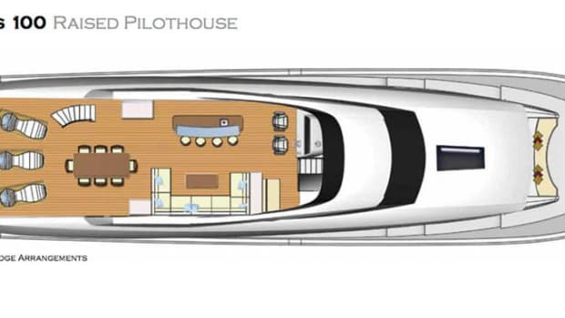 Hatteras 100 Raised Pilothouse - flybridge layout