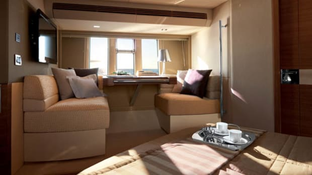 Master Cabin Dinette of the Aziumut 60 motoryacht