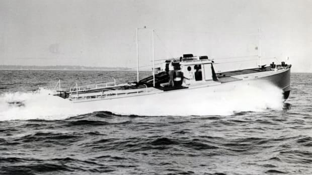 Wheeler bomb target boat