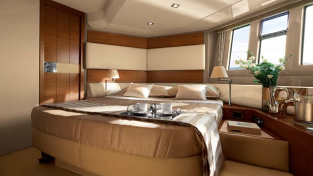 Master suite of the Azimut 60