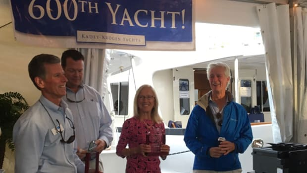 Kadey Krogen celebrated its 600th yacht