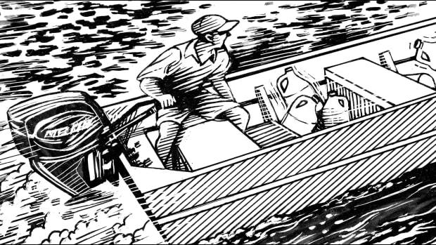 prm_Jon boat Shotgunning Art
