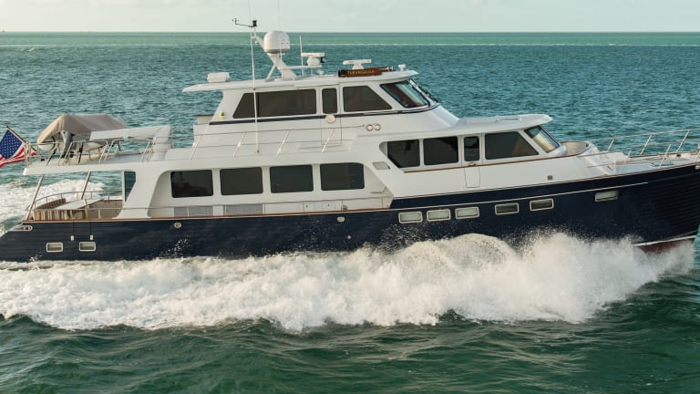 Power Amp Motoryacht S Boat Test Of The Marlow Explorer 75e