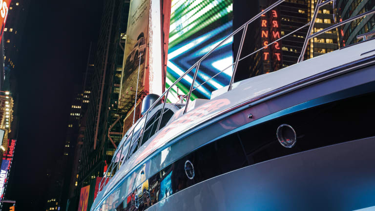 An Azimut in Times Square