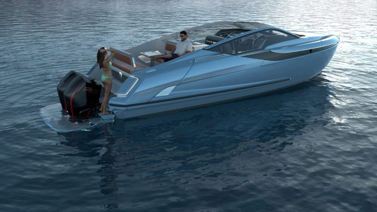Fairline reveals a surprise, outboard-powered F//Line 33