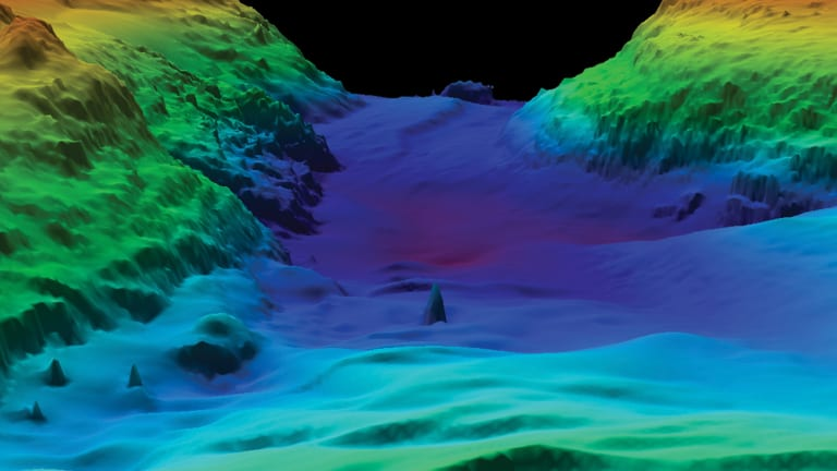 Mapping the Sea Floor with Lasers