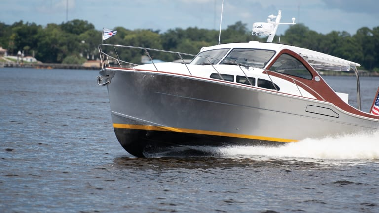 Tested: Huckins 38 Sportsman with Hybrid-Electric Propulsion