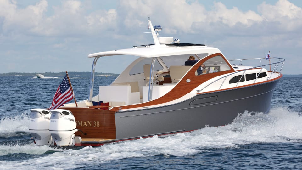 Drawing Board: Huckins' Classically Styled Sportsman 38