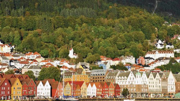 Photos by Aimée ColónThe bright colors of Bergen's Bryggen district would be repeated throughout our trip.