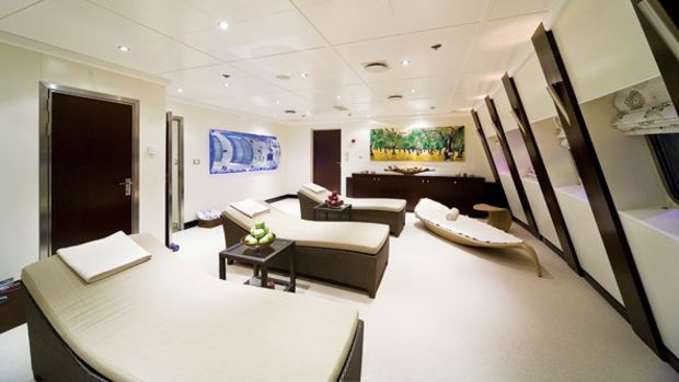 Lights are typically turned down low in the relaxation room.