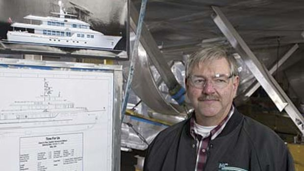 Burger Boat CompanyMark Gagnon, Burger's director of manufacturing, oversees pretty much everything that gets done inside the new building shed.
