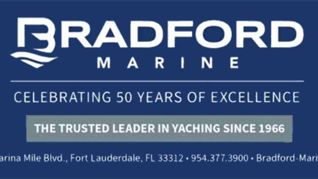 Bradford Marine logo and address