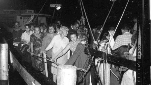 Cubans escaping to the U.S.