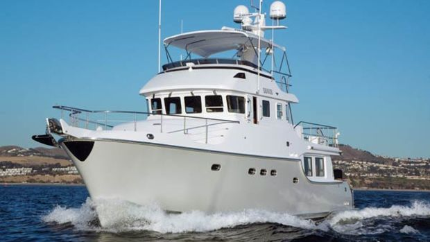 Pacific Asian Enterprises offers bulbous bows on its Nordhavn models ranging from 62 to 86 feet LOA, but not on the smaller boats in the line.