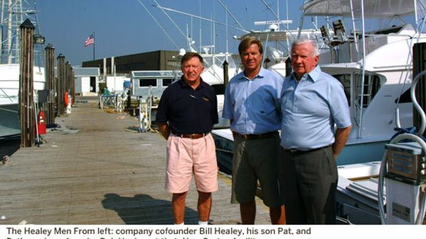The Healey Men From left: company cofounder Bill Healey, his son Pat, and Pat's uncle, cofounder Bob Healey, at their New Gretna facility.