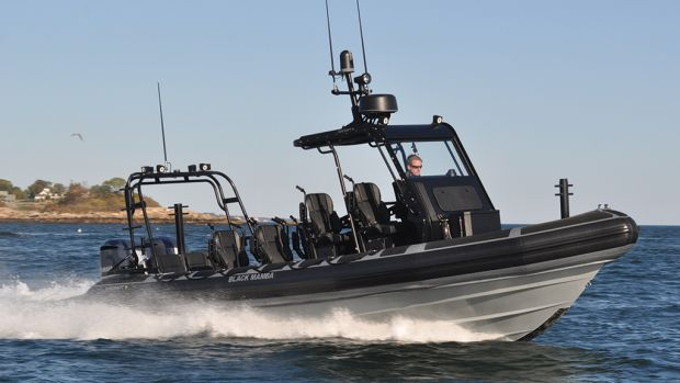 The Ribcraft 9.0 is popular as superyacht tender and military machine alike.