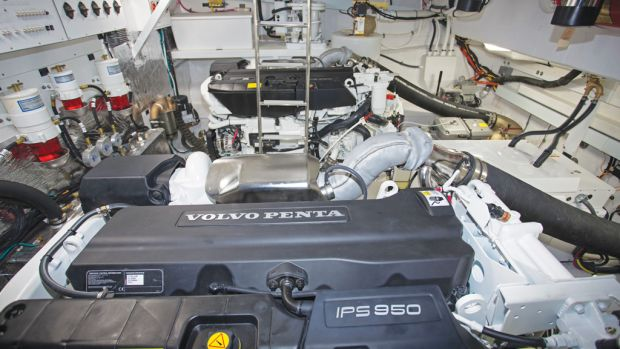 Cruisers 54 Cantius Engine Room