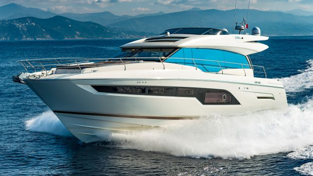 Don't be fooled by the sporty lines of the Prestige 630S—she's built to cruise as well as any motoryacht