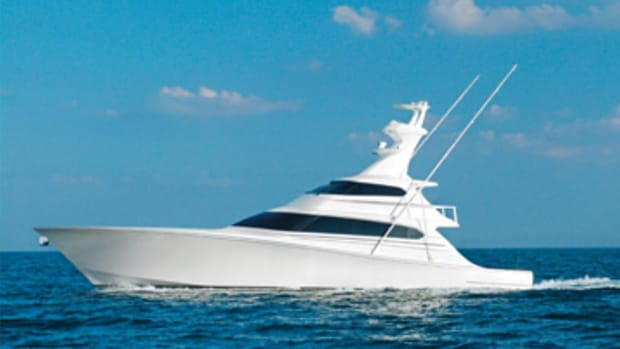 A megayacht fisherman with a reported 40-knot speed.