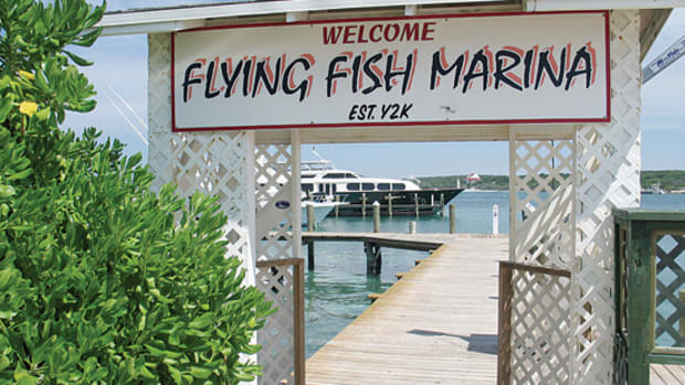 There's fuel and food at the Flying Fish Marina on the west side of Long Island.
