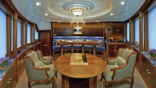 """The """"club lounge"""" is located where most pilothouses would normally be."""