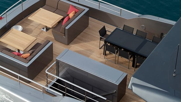 Photo Courtesy of SanlorenzoThis seating area is an ideal place to enjoy the view.
