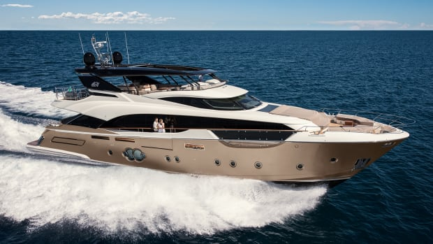 The MCTY 96. We've come to know the MCY look, but each new yacht from this yard still offers pleasant surprises.