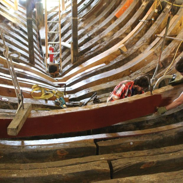 At Mystic Seaport, an ancient craft continues to be taught— the art of restoring wooden ships.