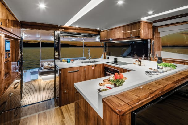 Riviera 72 Sports Motor Yacht Galley 02