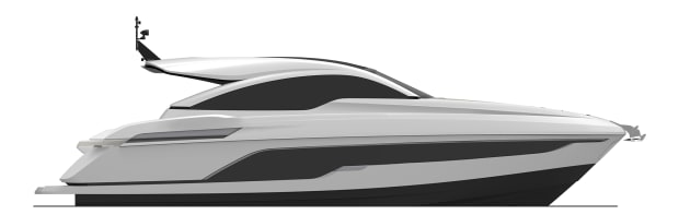 01-Targa 43 OPEN Side Profile