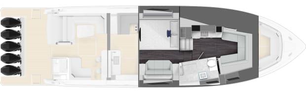 500 SSC Cabin Plan View