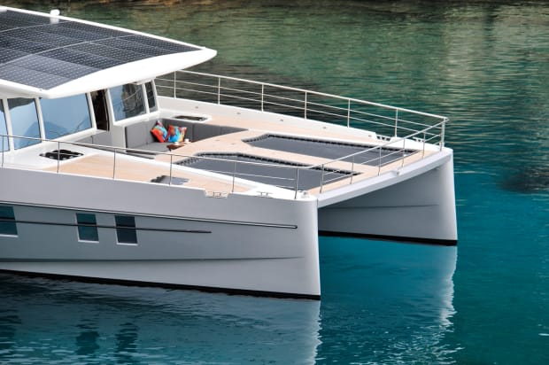 Solar-powered yachts with a virtually unlimited range
