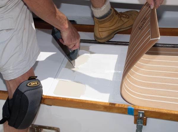 Installing Synthetic Teak Decks Power Amp Motoryacht