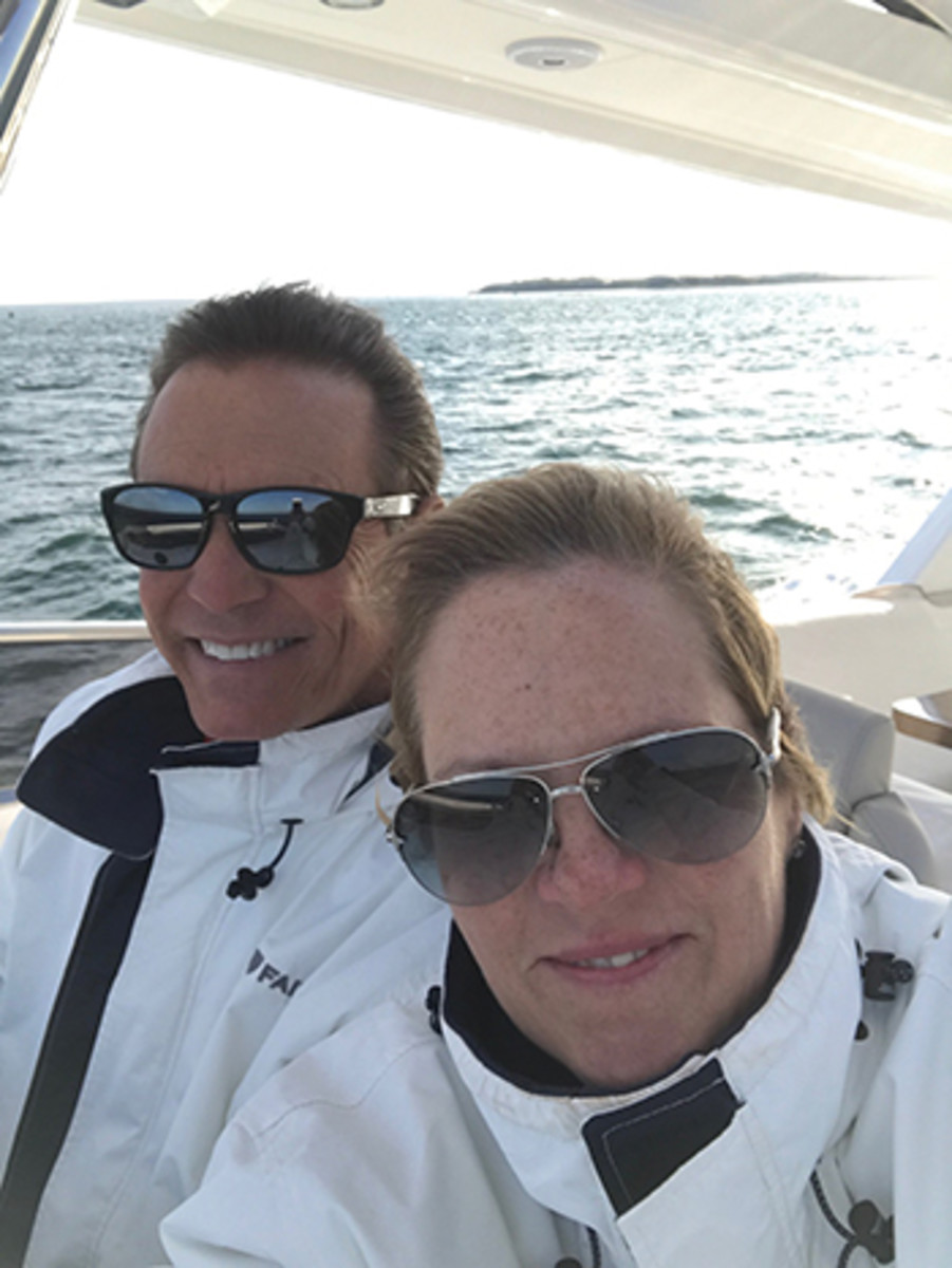 Dwight and Laura Healey know a thing or two about getting a new Fairline.