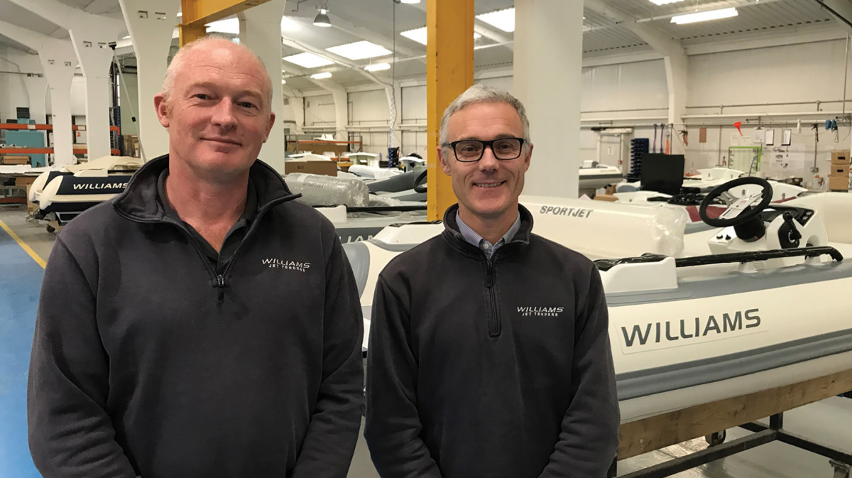 John and Mathew Hornsby February 2018 Williams Factory, Oxfordshire