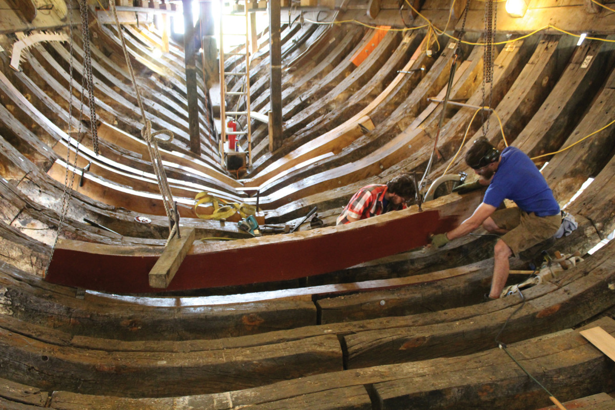 Restoring the Mayflower II in Mystic Connecticut
