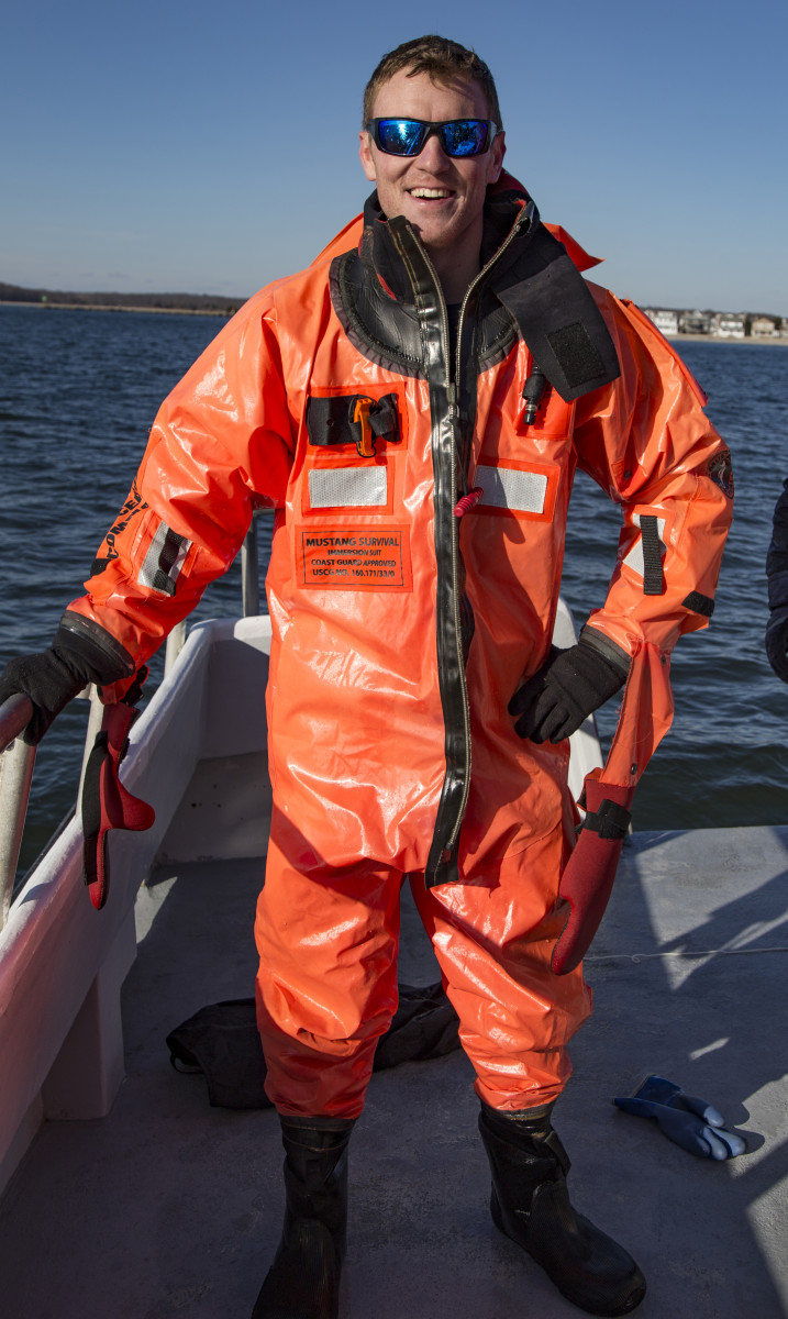 The author in his Mustang Survival Suit