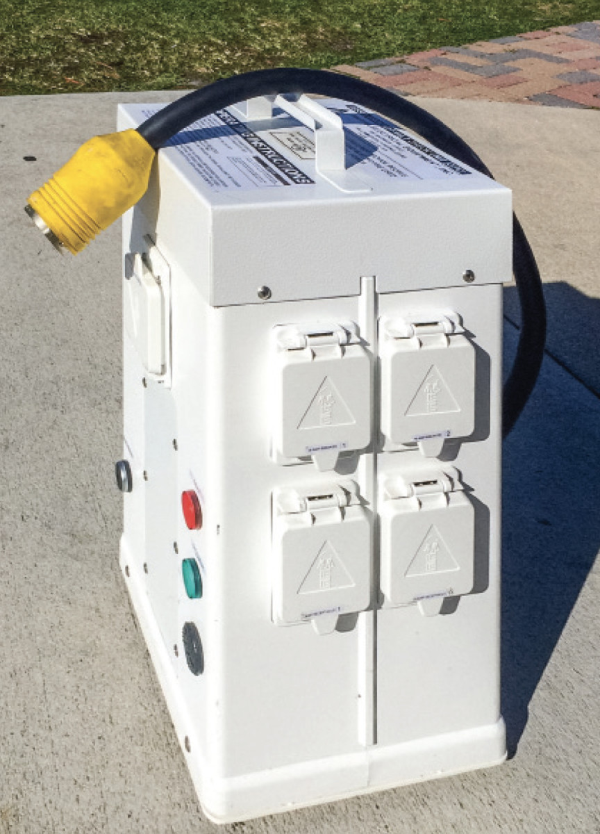 Modern power pedestals often have ground fault protection.