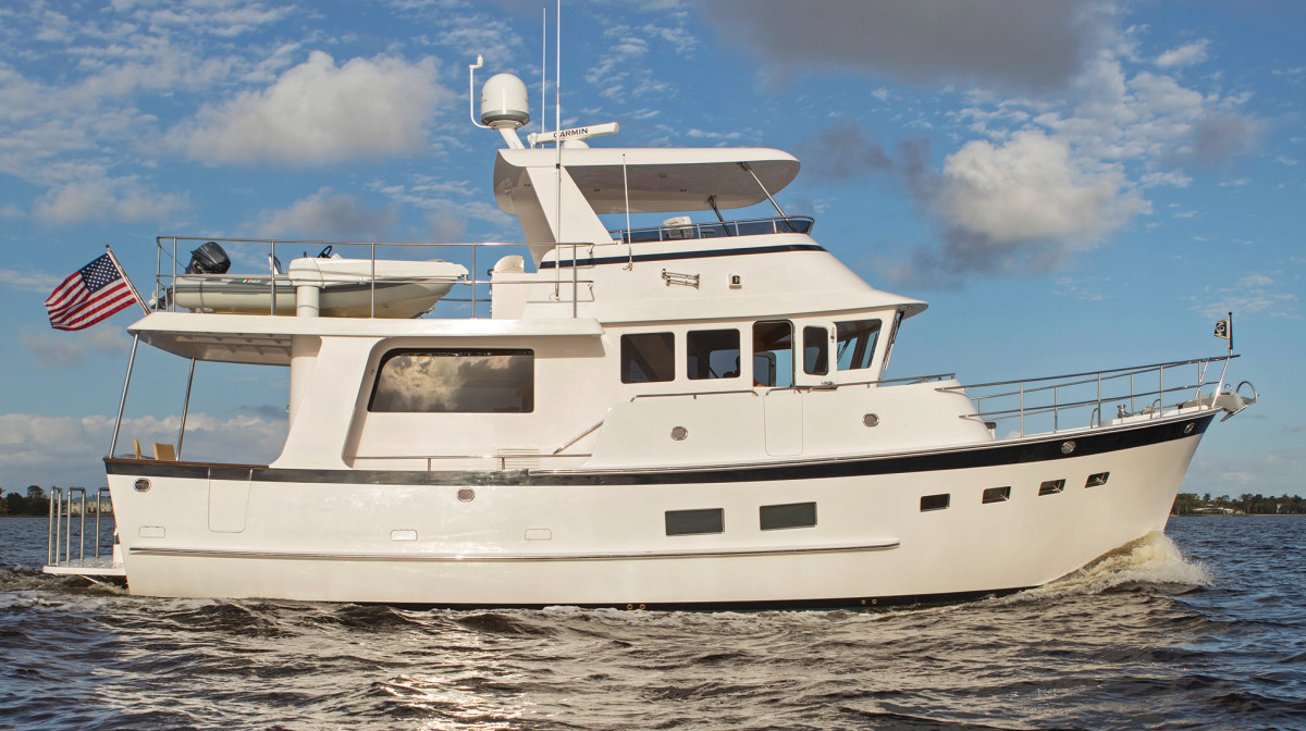 The interior is a departure for this builder, but the 50 Open maintains the ship-like lines that make this brand instantly recognizable at sea.