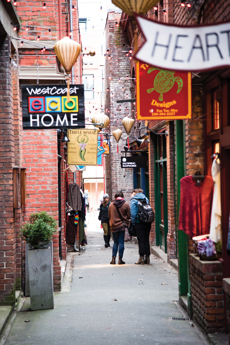 Fan Tan Alley is the narrowest street in the country.