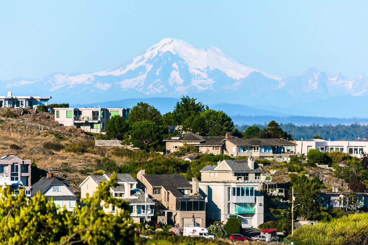 Mount Baker can be seen from points all over town.