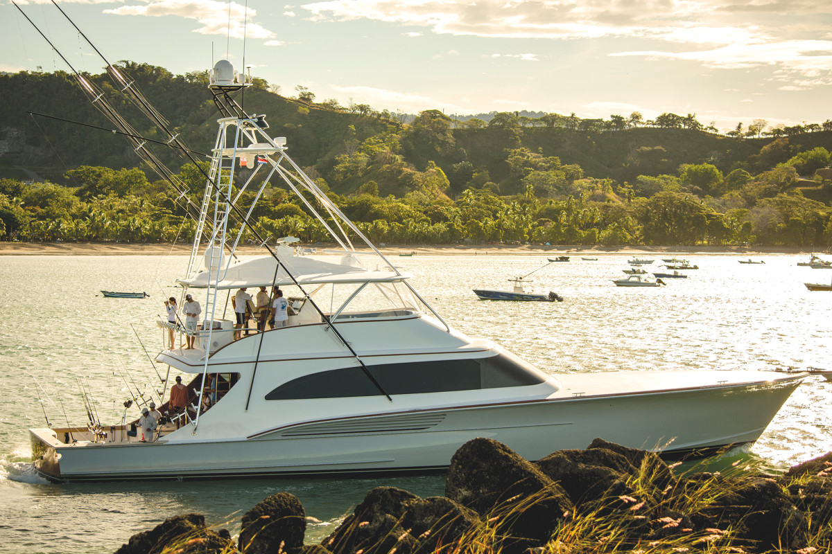 The new Jarrett Bay 90 turns heads abroad while competing in the Los Suenos Signature Billfish Series in Costa Rica.