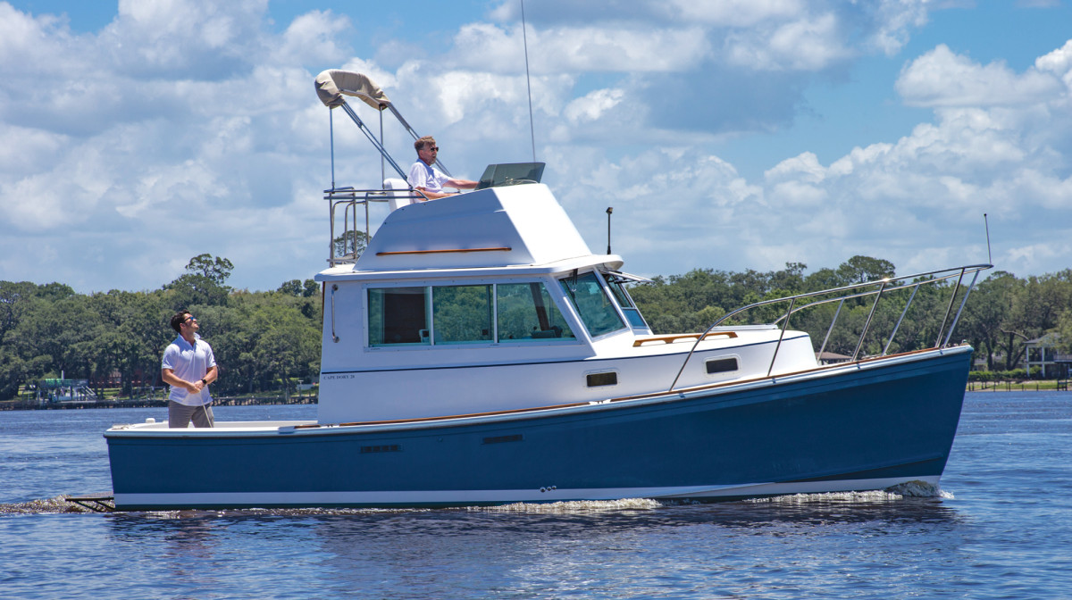 The island can accommodate ferries and recreational boats, including our Cape Dory 28 Flybridge.