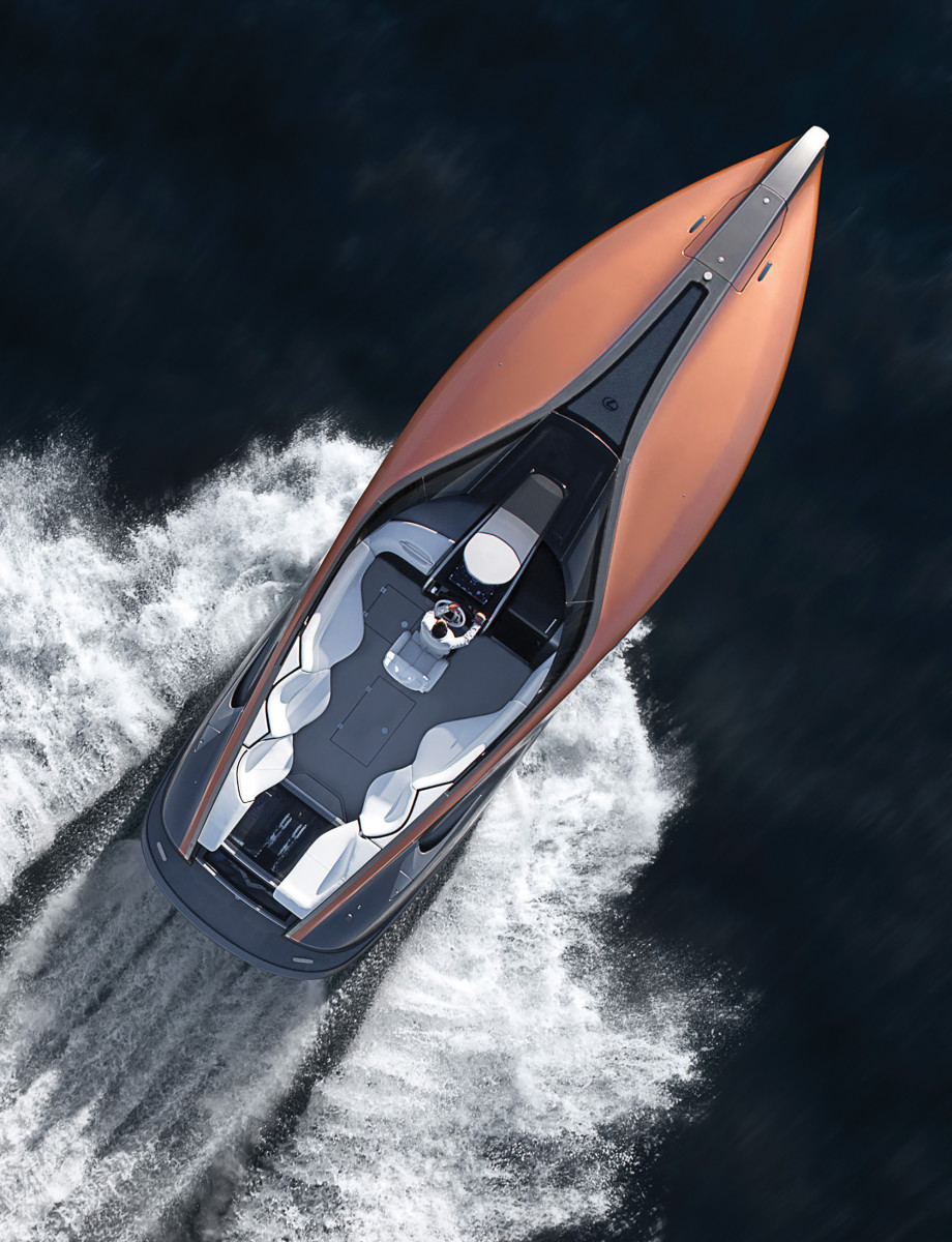 Starting from a clean sheet of paper, automakers are designing some seriously shapely boats, like the Lexus Sport Yacht.